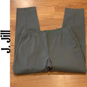J. Jill Essential Slim Ankle Stretch Pants Olive